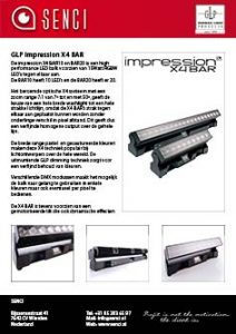 button SENCI GLP impression X4 BAR product sheet