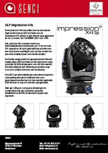 button SENCI GLP impression X4s product sheet